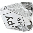 Headdress from the newspaper — Stock Photo