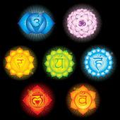 Símbolos de chakra — Vector de stock
