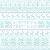 Christmas nordic pattern — Stock Vector