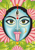 Kali - Indian Goddess face. — Stockvector