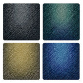Set of denim textures — Vector de stock