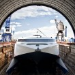Catamaran in the Dock - Stock Photo