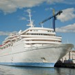 Cruise Liner in the Dockyard - Stock Photo