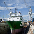 Drydocked Sea Vessel - Stock Photo