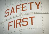 Segurança primeiro — Zdjęcie stockowe
