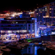 Gibraltar Marina at Night - Stock Photo