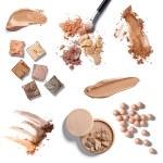 compõem cosméticos facial em pó — Foto Stock