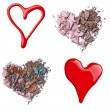Royalty-Free Stock Photo: Make up accessories heart shape love
