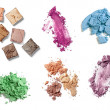 Постер, плакат: Make up powder facial cosmetics