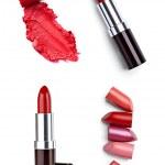 Постер, плакат: Lipstick make up beauty smudged