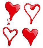 Nail polish paint heart shape love — Stock Photo