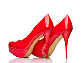 Red high heel shoes — Stock Photo