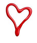 Heart shape love nail polish — Stock Photo