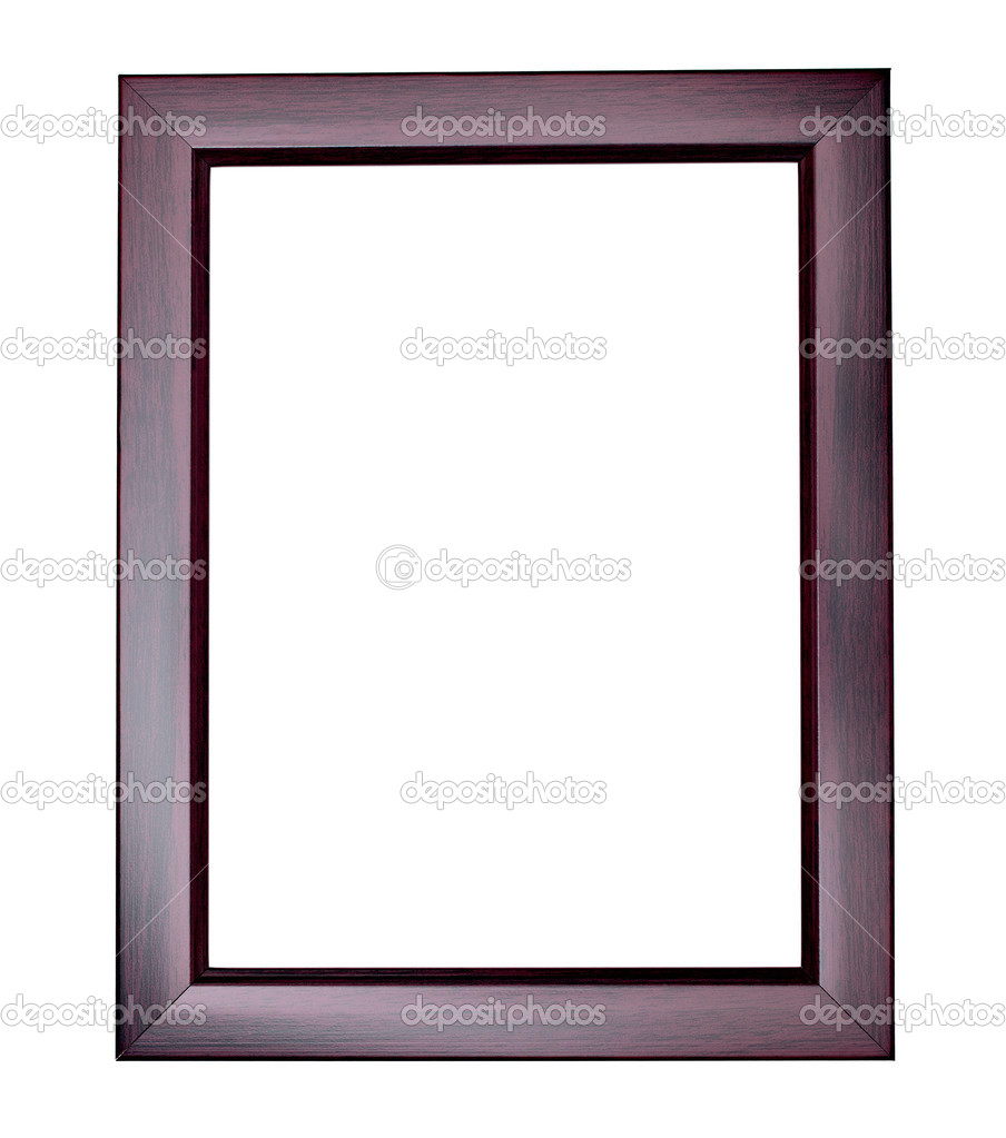 Collection of various wooden frames for painting or picture on white background. each one is shot separately  Stock Photo #10426653