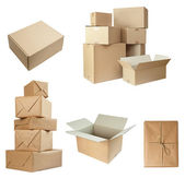Blank white box container — Stock Photo