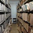 Old vintage file documents in storage room — Stock Photo