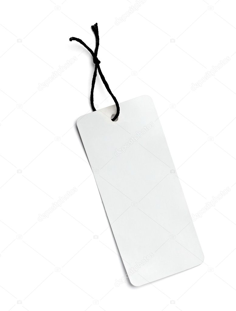 Close up of  a price label on white background  Stock Photo #10643293