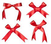 Silk ribbon knot gift christmas birthday holiday — Stock Photo