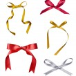 Silk ribbon knot gift christmas birthday holiday — Stock Photo