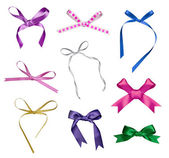 Silk ribbon knot gift christmas birthday holiday — Stockfoto