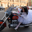 Stock Photo: Bride on motorcycle
