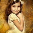 Vintage portrait of a little girl — Stockfoto