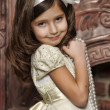 Stock Photo: Vintage portrait of little girl