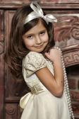 Vintage retrato de uma menina — Fotografia Stock