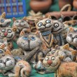 Ceramic cats — Stock Photo