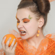Orange girl — Stock Photo #10599621