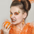 Orange girl — Stock Photo #10599641