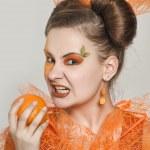 Orange girl — Stock Photo