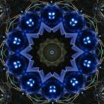 Blue circular pattern — Stock Photo