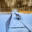 Stock Photo: Rural mooring in snow