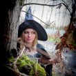 Witch in the hat — Stock Photo