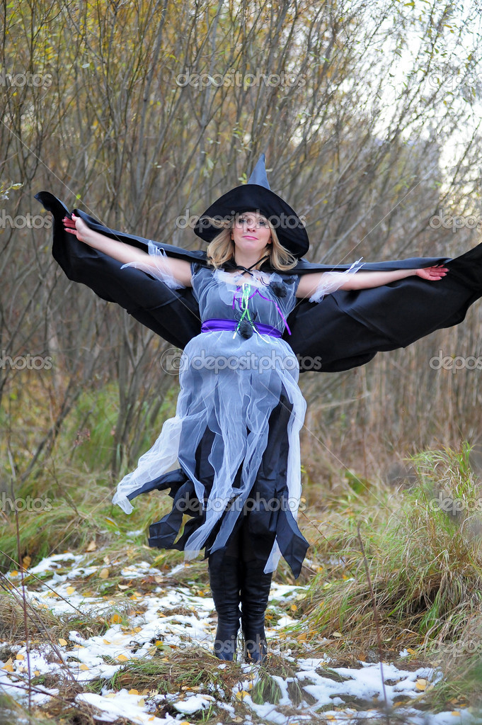 Witch in the wood — Stock Photo #8525795