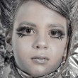 Girl in silver and foil — Stock Photo #8764031