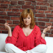 Woman in meditation — Stock Photo