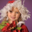 Little santa girl — Stock Photo #8879396