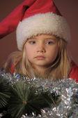 サンタの小さな女の子 — ストック写真