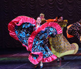 Gypsy dance on stage — Stock Photo