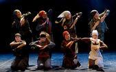 Children's dance ensemble, Dance Lenin so young in the spirit of Soviet Socialist Revolution, St. Petersburg, Russia. — Stock Photo