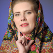 Stock Photo: Russiwomin scarf