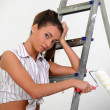 The girl is the house painter — Stock Photo #9306007