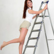 The girl is the house painter — Stock Photo #9306025