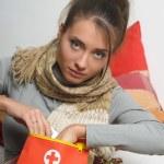 Girl is sick — Stock Photo #9306315