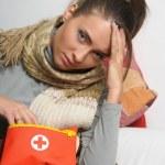 Girl is sick — Stock Photo #9306334