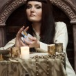 Fortune-teller with tarot cards — Stock Photo #9510027