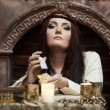 Fortune-teller with tarot cards — Stock Photo #9510118