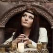Fortune-teller with tarot cards — Stock Photo #9510131